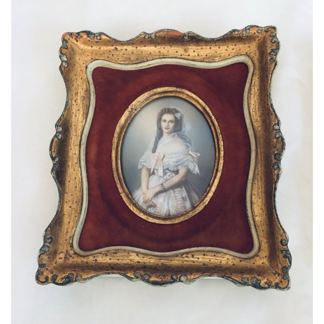 Portraiture Antique 19th Century European Prints in Gilt Frames - A Pair For Sale - Image 3 of 7
