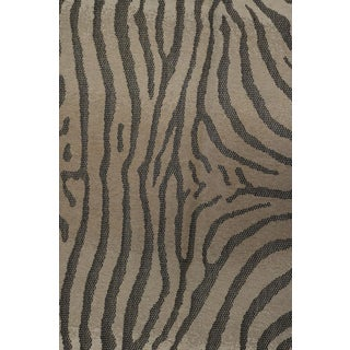 French Zebra Patterned Rug in Natural Fiber Preview