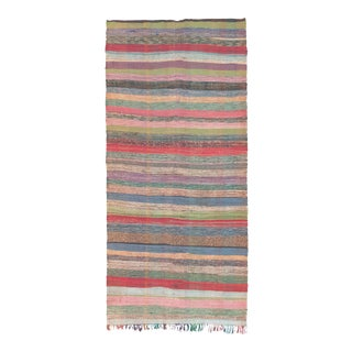 Mid 20th Century Moroccan Rug- 5′3″ × 10′10″ For Sale