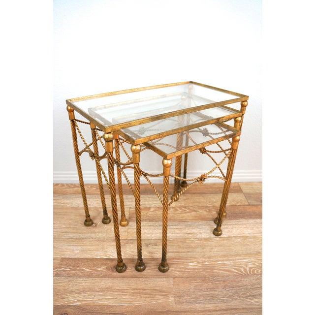 Gold Metallic Nesting Side Tables - Set of 3 - Image 5 of 6