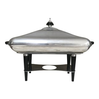 Atomic Age Aluminium Bakelite Chafing Dish Rechaud MMM Sa Spain For Sale