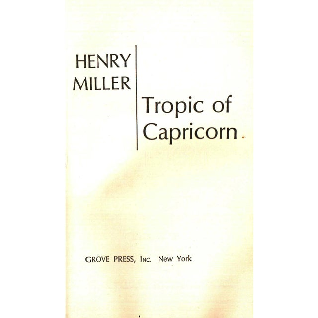 "Mid-Century Modern 1961 ""Tropic of Capricorn"" Collectible Book For Sale - Image 3 of 5"