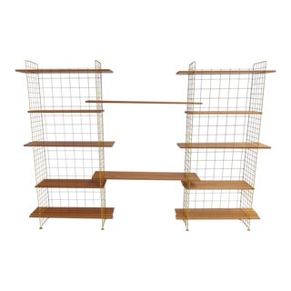 Beautiful Dutch Mid-century Modern Modular Shelving Sold by Metz & Co., 1950s