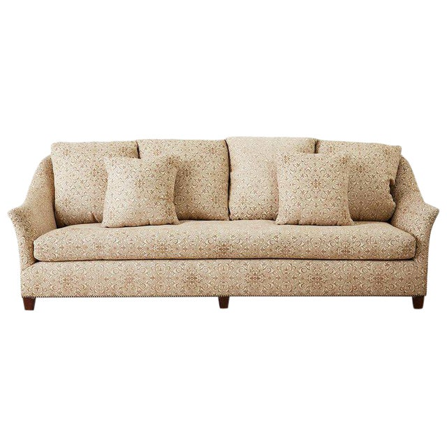 Jonas New York Bruxelles Four Seat Upholstered Sofa For Sale