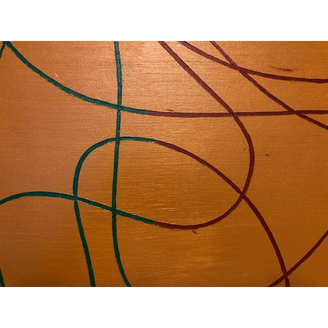 """Canvas Acrylic Painting by Artist Troy Smith - 60"""" X 84"""" Contemporary Art - Abstraction For Sale - Image 7 of 13"""