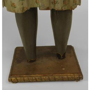 Blue American Country style life size wood figure of young girl For Sale - Image 8 of 11