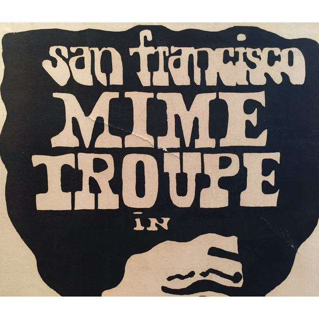 1960's San Francisco Mime Troupe Original Poster - Image 2 of 4