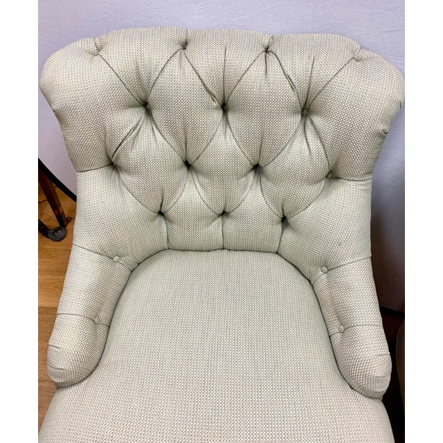 Ralph Lauren Ralph Lauren Tufted Upholstered Chairs, a Pair For Sale - Image 4 of 13