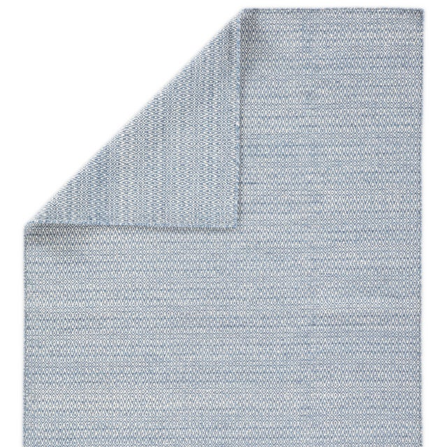 Jaipur Living Eulalia Handmade Geometric Blue/ Ivory Area Rug - 2′ × 3′ For Sale - Image 4 of 6