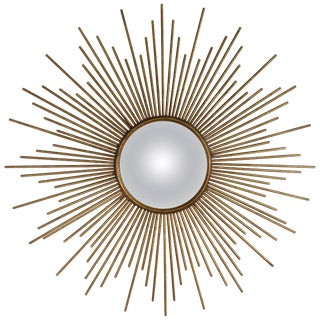 Sunburst Convex Mirror For Sale