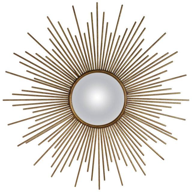 Sunburst Convex Mirror For Sale
