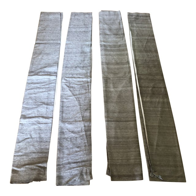 Crate & Barrel Raw Silk Curtain Panels - Set of 4 For Sale