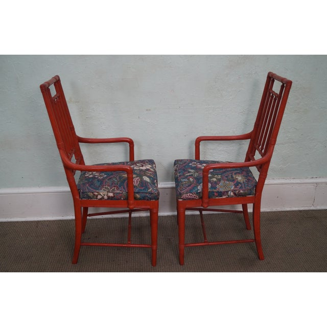 Drexel Heritage Vintage Faux Bamboo Painted Dining Chairs - 6 - Image 3 of 10