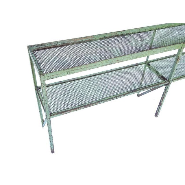 Long Narrow Industrial Mesh Console - Image 7 of 11