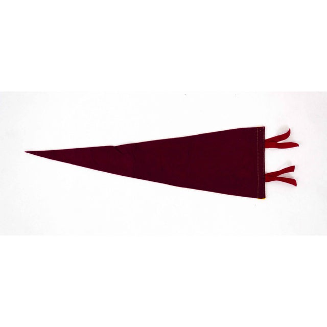 Vintage pennant flag from Toronto, Canada in rich burgundy.
