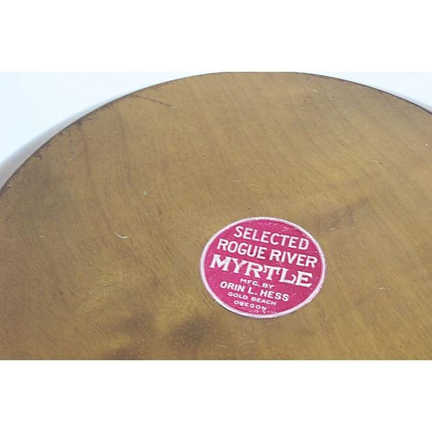 Mid-Century Mod Nut Cracker Bowl in Oregon Myrtle - Image 5 of 6