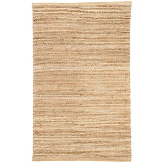 Jaipur Living Clifton Natural Solid Tan/ White Area Rug - 8′ × 10′ For Sale