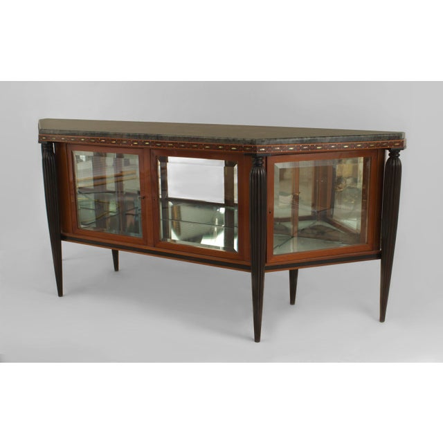 French Art Deco Mahogany Sideboard Cabinet For Sale - Image 4 of 4
