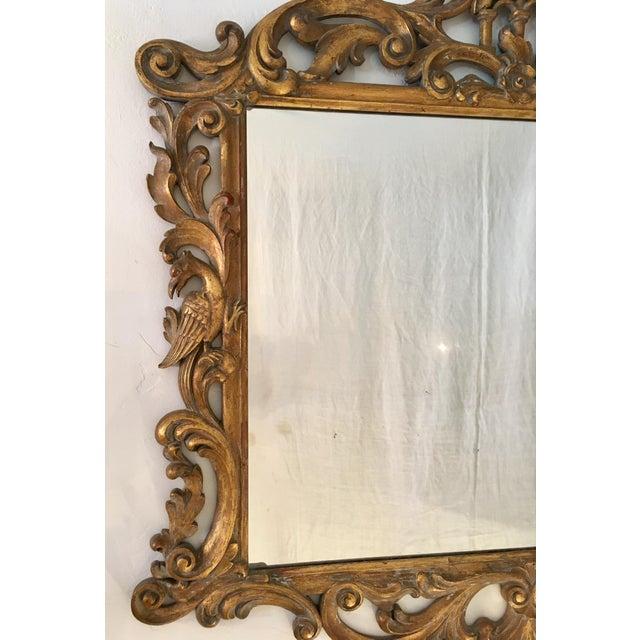 Gilt Finish Carved Italian Mirror - Image 5 of 11