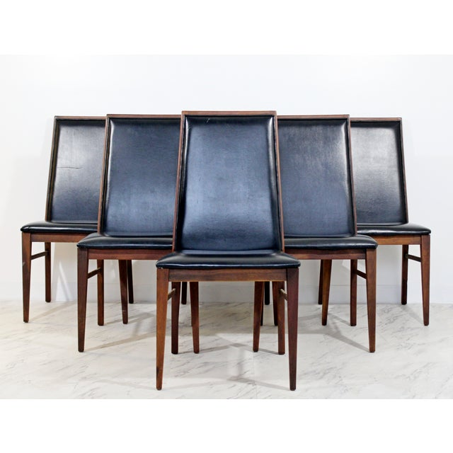 Directional Mid Century Modern Milo Baughman Directional Dining Table Dillinghman 6 Chairs For Sale - Image 4 of 12