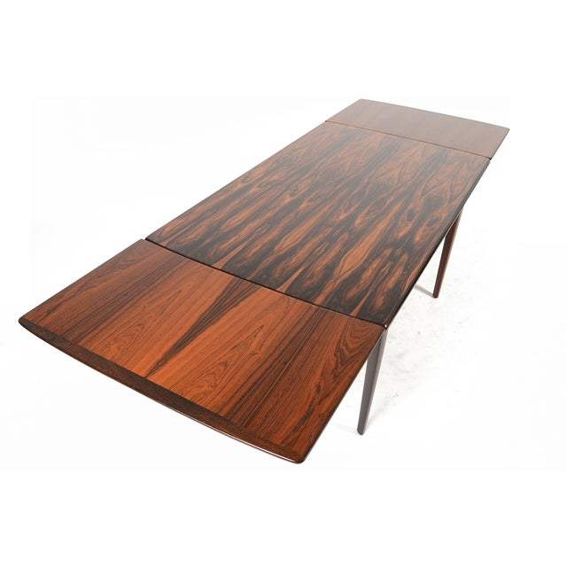 Brazilian Rosewood Draw Leaf Dining Table - Image 9 of 11