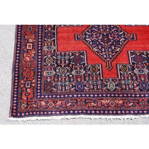 Islamic Semi Antique Persian Senneh Runner - 4′10″ × 10′5″ For Sale - Image 3 of 7