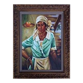 Creole Portrait Painting For Sale