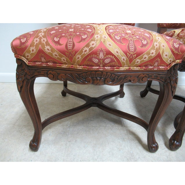 Brown Fremarc Designs Country French Walnut Dining Chairs - a Pair For Sale - Image 8 of 12