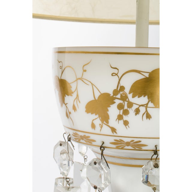 White Glass Double Cluster Table Lamp For Sale In Los Angeles - Image 6 of 11