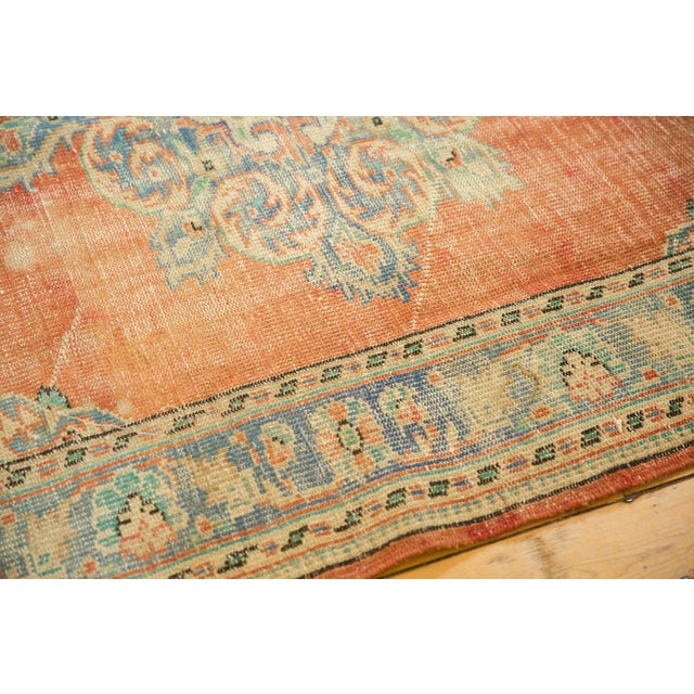 "Shabby Chic Vintage Distressed Oushak Carpet - 5'6"" X 9' For Sale - Image 3 of 10"