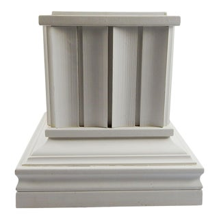 Custom Made White Wood Pedestal