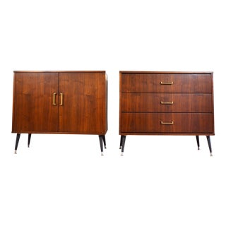Mid Century Cabinets or Nightstands - A Pair