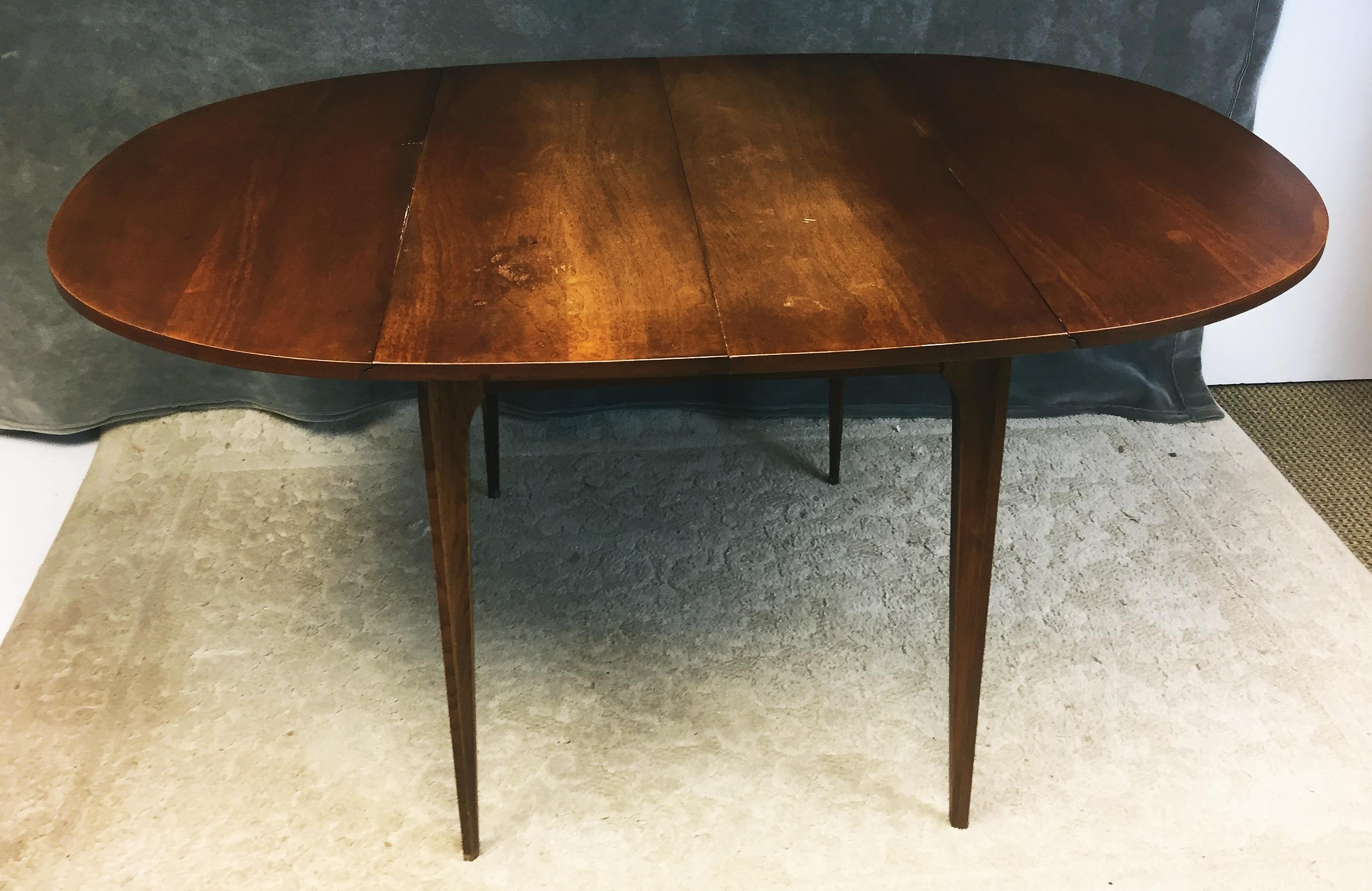 Mid Century Modern Broyhill Brasilia Drop Leaf Dining Table For Sale    Image 5 Of