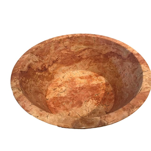Italian Antique Italian Marble Centerpiece Bowl or Planter For Sale - Image 3 of 8