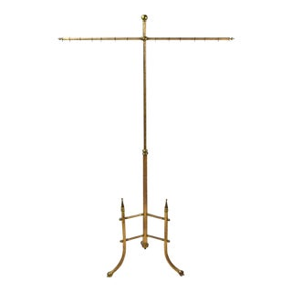 Antique Brass Fire or Dressing Pole Screen For Sale