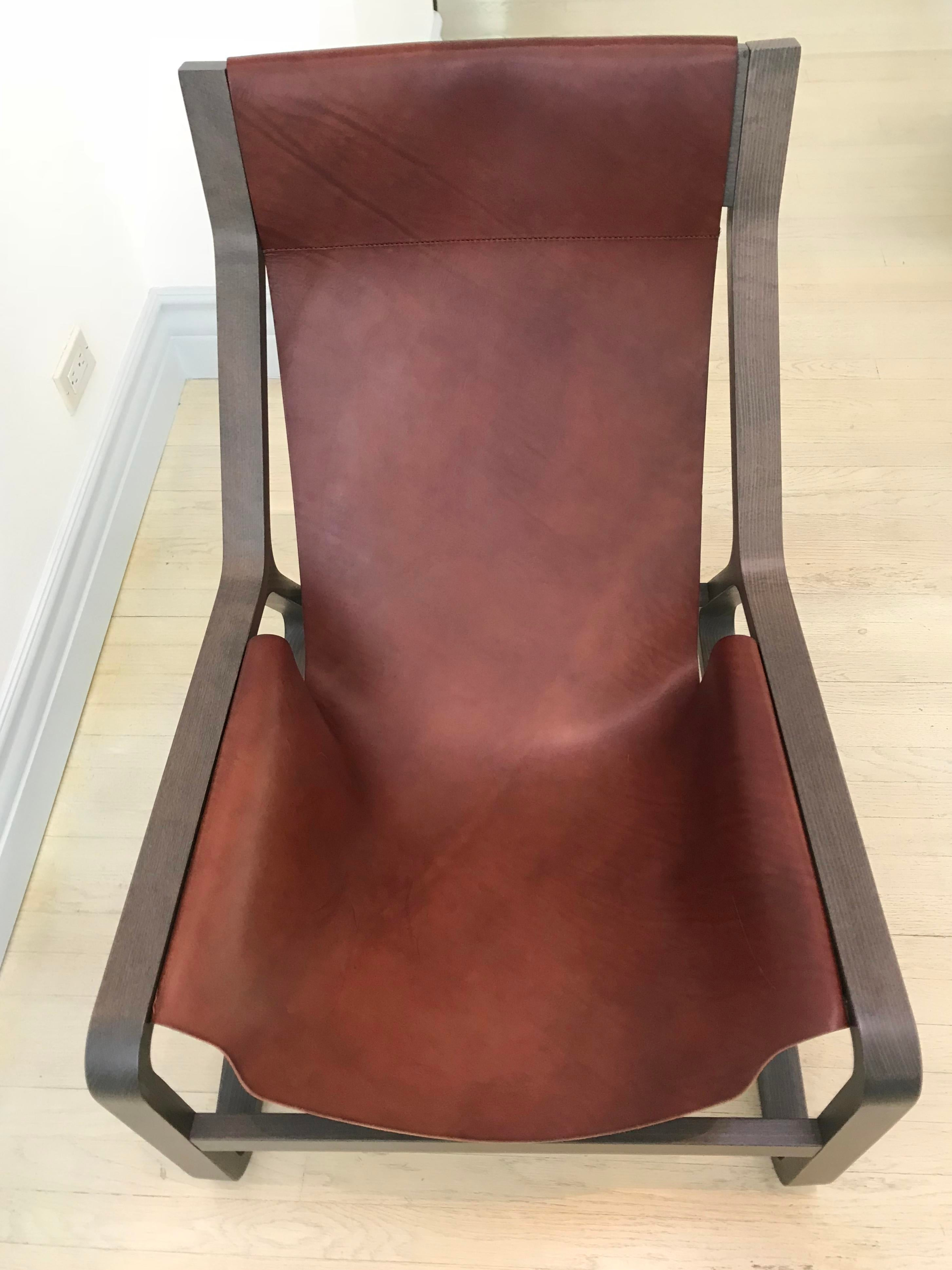 Blu Dot Toro Leather Sling Lounge Chair For Sale In Los Angeles   Image 6 Of
