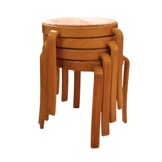 Italian Mid-Century Modern Stackable Stools For Sale
