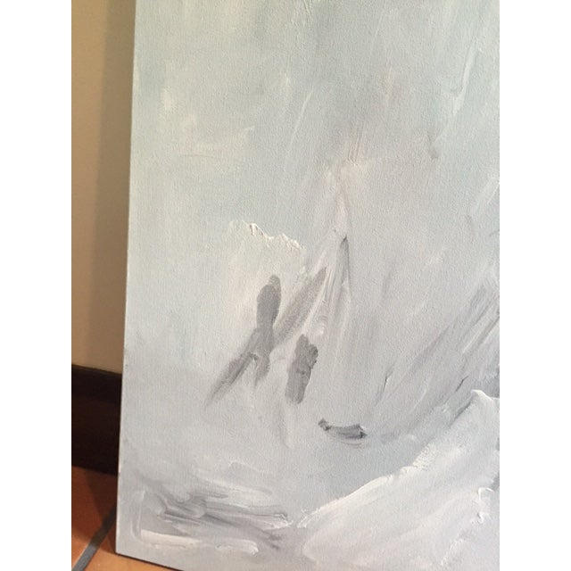 """""""Untitled #2"""", Gray Abstract Painting - Image 5 of 8"""