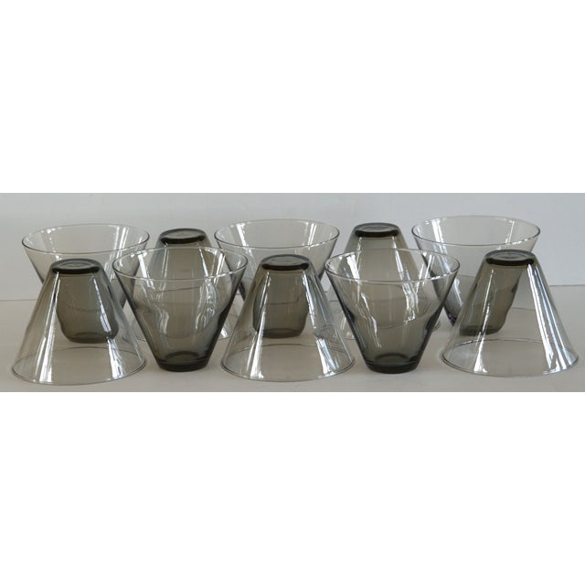 Modern Smoke Gray Cocktail Glasses - Set of 10 - Image 9 of 11