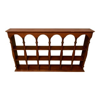 Vintage Wooden Wall-Mounted Display Shelf For Sale