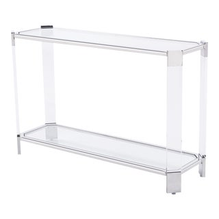 Blink Home Silver Console Table For Sale