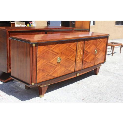 Monumental French Art Deco Palisander By Jules Leleu Sideboard / Buffet ,Circa 1940s - Image 3 of 10