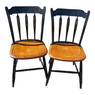 Vintage Hitchcock Dinning Chairs - a Pair
