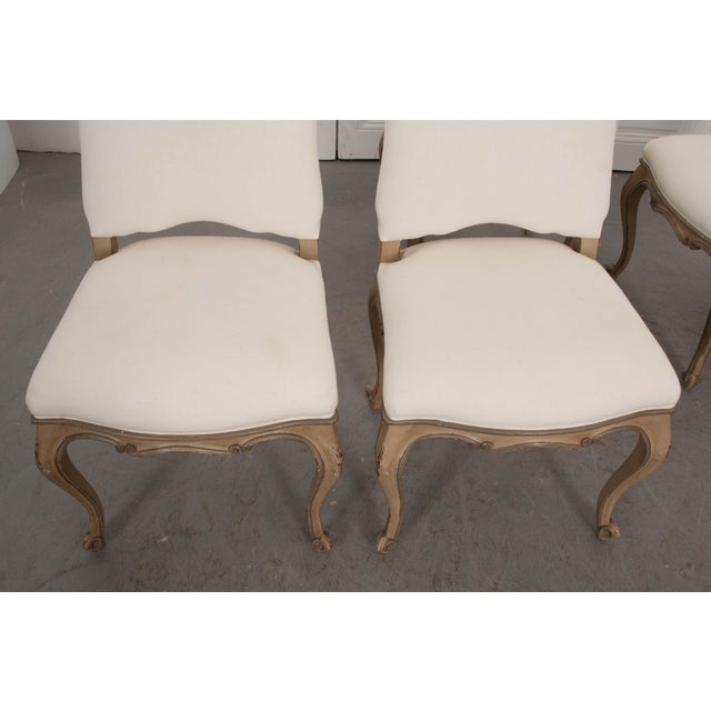 French Louis XV Style Reproduction Dining / Side Chairs - Set of 4 For Sale - Image 12 of 13