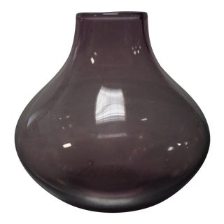 Small Violet Glass Bud Vase For Sale