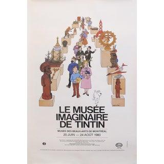 """1980's Original Vintage Exhibition Poster - """"Le Musée Imaginaire De Tintin'' - Mbam For Sale"""