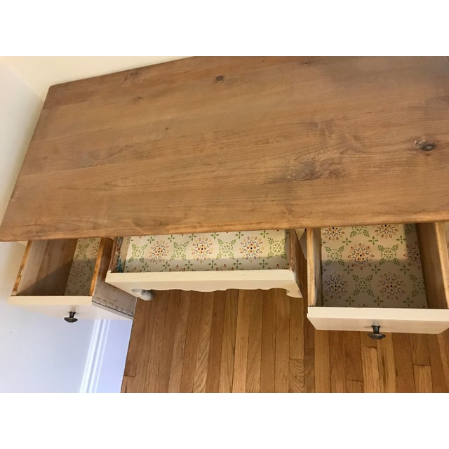 Vintage 3-Drawer Desk - Image 6 of 10