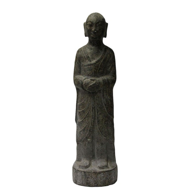 Chinese Gray Stone Statue For Sale