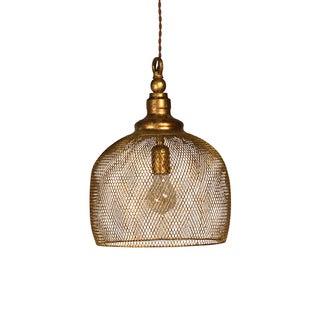 Gold Leaf Basket Lantern