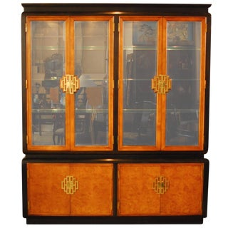 1970s Vintage Raymond Sobota for Century Furniture Chin Hua Display Cabinet For Sale
